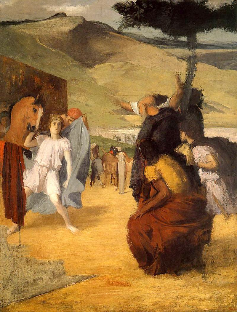 Alexander and bucephalus edgar degas